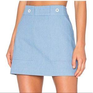 Rag & Bone pale blue wades a-line skirt